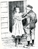 Dik Trom en the blind girl next door by Johan Braakensiek end of 19th century.png