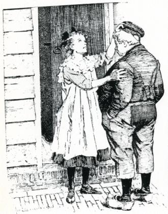 Girl next door - Dik Trom and the blind girl next door (by Johan Braakensiek)