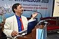 Dileep Basumazumder Talking in Memory of Deceased Kalyan Mukherjee - SPORTSMEDCON 2019 - SSKM Hospital - Kolkata 2019-03-17 3718 3894.JPG