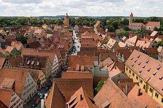 Dinkelsbühl - View of the old town from the church tower