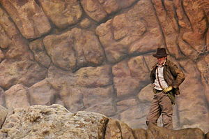 Indiana Jones Epic Stunt Spectacular! - Indiana Jones stunt double performing at the show
