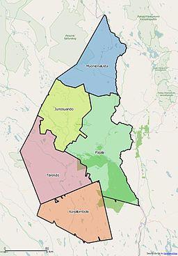 Karta Sverige Pajala.Korpilombolo Distrikt Wikipedia
