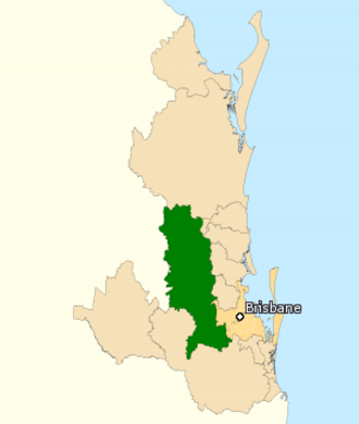Division of Blair - Division of Blair (green) in Queensland, as of the 2016 federal election.
