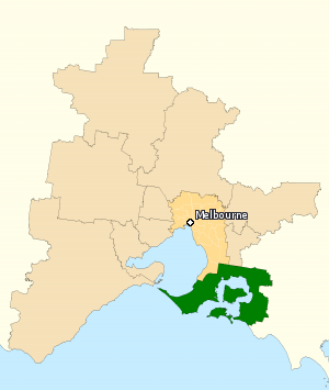 Division of Flinders - Division of Flinders in Victoria, as of the 2016 federal election.