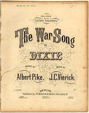 """""""The War Song of Dixie"""" sheet music ..."""
