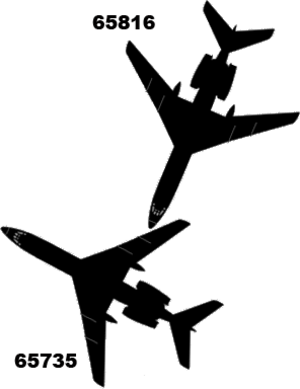 1979 Dniprodzerzhynsk mid-air collision - Relative angle of aircraft at impact