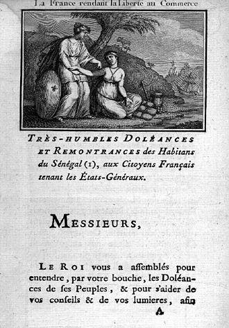History of Senegal - The List of Complaints of Saint-Louis du Sénégal (1789)