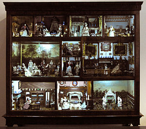 Dollhouse - Dutch cabinet dollhouse of Petronella de la Court, Amsterdam 1670-1690