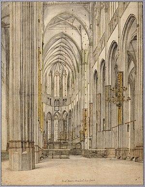 Pieter Jansz. Saenredam - Interior of St. Martin's Cathedral, Utrecht, by Saenredam