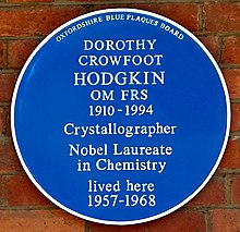 Dorothy Hodgkin blue plaque in Oxford.jpg