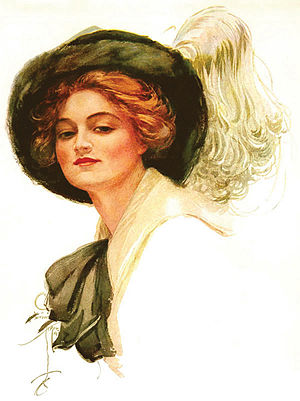 Dorothy Gibson - Dorothy Gibson as illustrated by Harrison Fisher, 1911