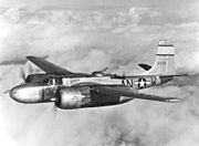 Douglas A-26B in flight