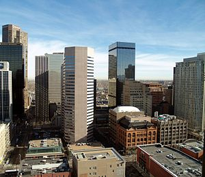 Downtown skyscrapers in Denver, Colorado.