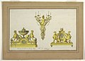 Drawing, Design for Two Andirons and Sconce of Gilt Bronze, 1777–90 (CH 18297641).jpg