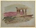 Drawing, Ruins of Doric Temple, Corinth, 1869 (CH 18197621).jpg