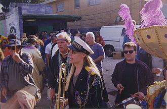 "Milneburg, New Orleans - ""Krewe of Dreux"" neighborhood Mardi Gras celebrations, 2000."