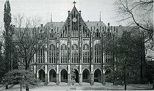 Kreuzschule - Kreuzschule, neogothic building of 1866, destroyed in 1945
