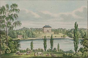 Dronninggård - Dronninggård painted by Heinrich Gustav Ferdinand Holm  in 1826