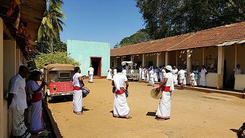 Drummers playing near the Ruvanvelisaya Dagoba in Anuradhapura, Sri Lanka.jpg