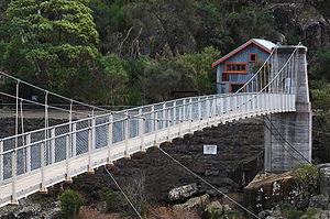 Duck Reach power station bridge