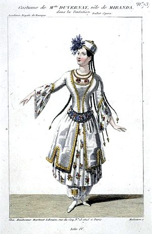 La tentation - Image: Duvernay as Miranda in Act 4 of 'La tentation' Maleuvre Gallica