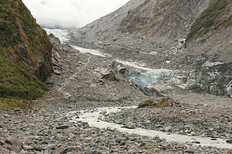 Fox Glacier - Below Fox Glacier, February 2013