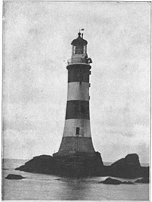 Smeaton's Eddystone Lighthouse, 1870s.