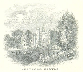Hertford Castle - Hertford Castle pictured in 1851