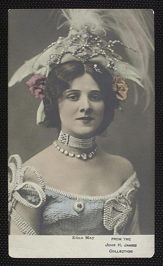 The Belle of New York (musical) - Postcard of Edna May as Violet in The Belle of New York