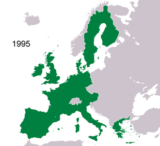 History of the European Union (1993–2004) - The EU between 1995 and 2004