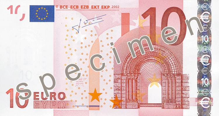 EUR 10 obverse (2002 issue)
