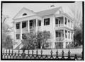 EXTERIOR, WEST FRONT AND SOUTH SIDE - Charles John Shannon House, 1502 Broad Street, Camden, Kershaw County, SC HABS SC,28-CAMD,14-1.tif