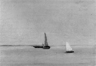Ships and Sailboats on the Deleware: Study