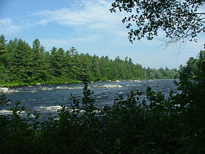 East Branch Penobscot River - East Branch Penobscot River, northeast of Millinocket, Maine.