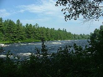 East Branch Penobscot River - East Branch Penobscot River, northeast of Millinocket, Maine.