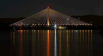 East Huntington Bridge - Image: East End Bridge at Night