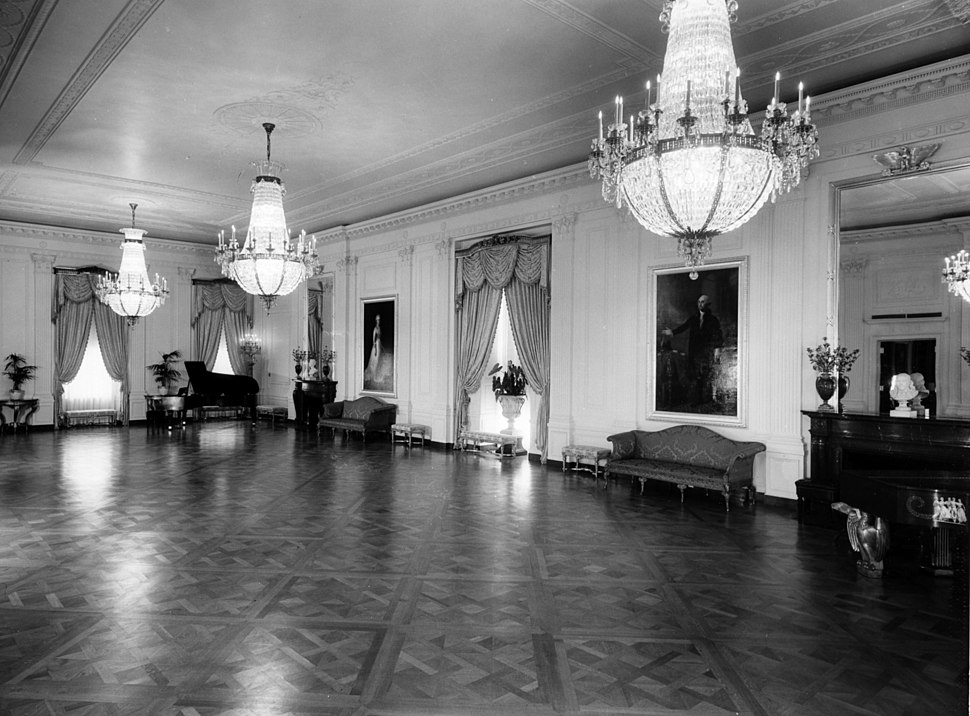 East Room of the White House-08-01-1952