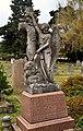 East Sheen Cemetery, Angel with wreath, William Mummery Packer grave.jpg