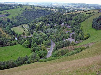 Ecton, Staffordshire - Image: Ecton and Manifold Valley