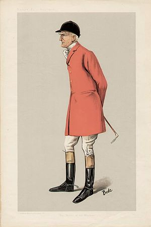 "Edgar Lubbock - Caricature of Mr Edgar Lubbock (1847–1907). ""The Master of the Blankney"". Published in Vanity Fair in 1906"