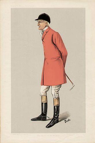 "Edgar Lubbock - Caricature of Mr Edgar Lubbock (1847–1907). ""The Master of the Blankney"". Published in Vanity Fair in 1906"