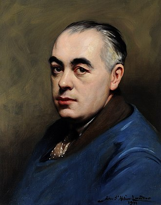 Edmund Blampied - A portrait of the artist by his friend, John St Helier Lander