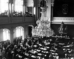 Parliament of Finland - The first session of the new Parliament in 1907