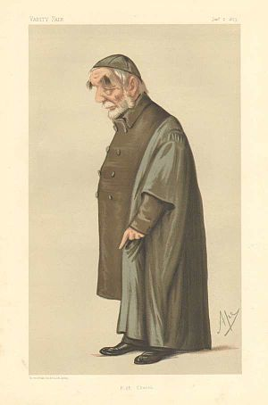 Edward Bouverie Pusey - Vanity Fair caricature, 1875.