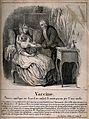 Edward Jenner vaccinates a young child on its mother's lap; Wellcome V0018751.jpg