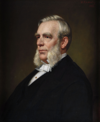 Edwin D. Morgan - Gubernatorial portrait of New York Governor Edwin D. Morgan.