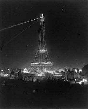 William H. Rau - The Eiffel Tower at night