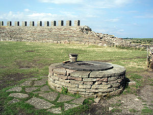 Eketorp - The water well inside the fort, no doubt a strong reason for its location