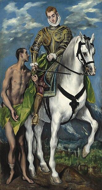 Martin of Tours - San Martín y el mendigo by El Greco