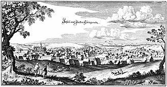 Elbingerode - Elbingerode, engraving by Matthäus Merian (about 1650)